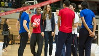 HRH The Duchess of Cambridge shows support for this year's SportsAid Week