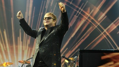 "Sir Elton John looks ahead to a ""special occasion"" at Stoke Park next week"