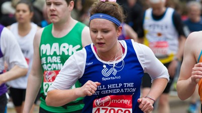 SportsAid celebrating Virgin Money London Marathon's #ThanksaBillion campaign