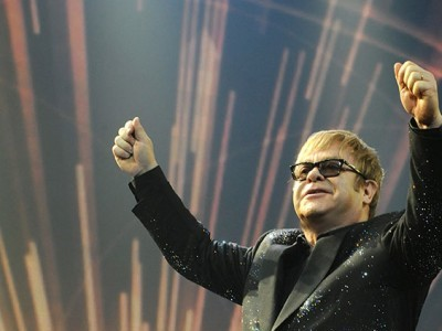 "Elton John looks ahead to a ""special occasion"" at Stoke Park next week"