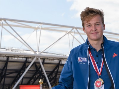 Tom Darling, Crispin Beaumont and Emma Wilson secure World Championship double for British Youth Sailing Team
